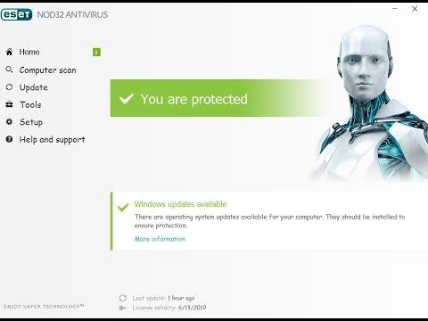 ESET NOD32 Antivirus 13.1.21.0 License Key + Crack (2020) Free